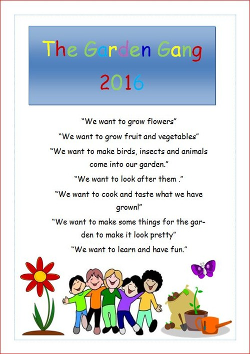 The Gardening Club Info Poster